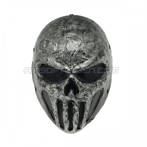 Fma Silver Wire Mesh Skull Punisner Full Face Protection Airsoft Paintball Mask Tb575