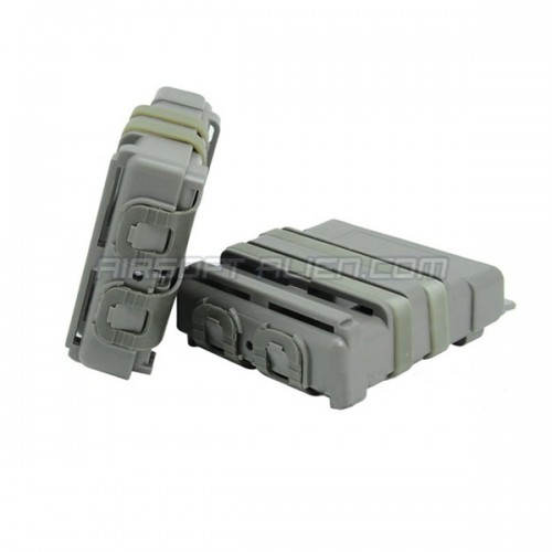 Airsoft Tactical 7.62 Double Fast Attach MAG Magzine Pouch Molle Holder Set FG